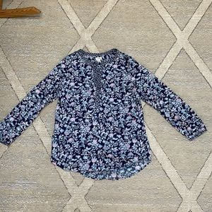J Crew Floral Henley Popover - Small